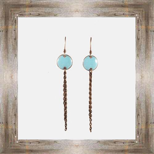'Handcrafted Originals' Copper & Enamel Dangle Earrings $34.99 #7270