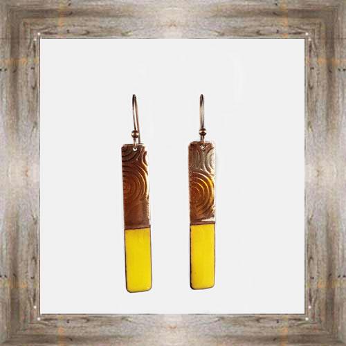 'Handcrafted Originals' Copper & Enamel Thin Bar Earrings $34.99 #7270