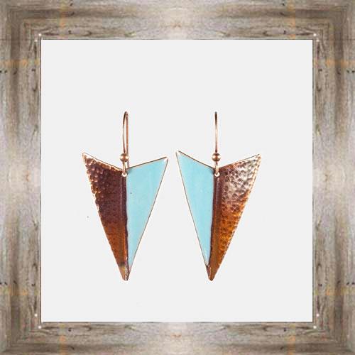 'Handcrafted Originals' Copper & Enamel Triangle Earrings $34.99 #7270