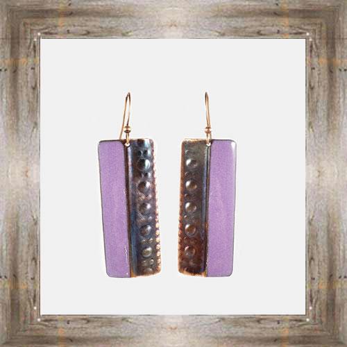 'Handcrafted Originals' Copper & Enamel Wide Bar Earrings $34.99 #7270