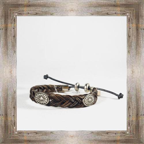 Medallion Horse Hair Adjustable Bracelet (2) $14.99 #6239