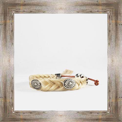 Medallion Horse Hair Adjustable Bracelet $14.99 #6239