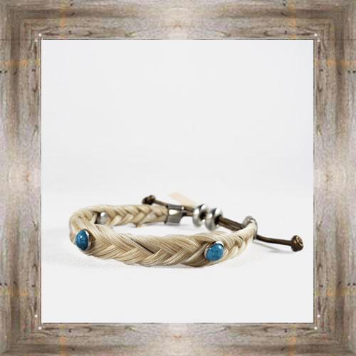Triple Turquoise Horse Hair Adjustable Bracelet $14.99 #6239