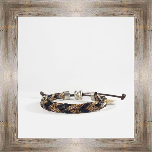 Two Toned Simple Horse Hair Adjustable Bracelet $14.99 #6239