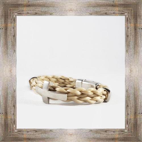 Cross Horse Hair Clasp Bracelet $34.99 #8118