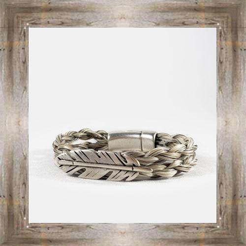 Feather Horse Hair Clasp Bracelet $34.99 #8118