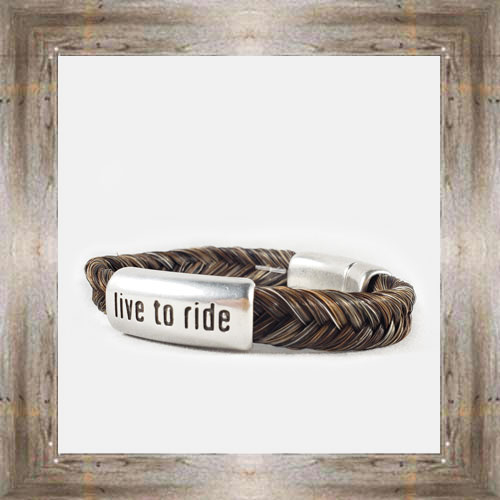 Live to Ride Horse Hair Clasp Bracelet $34.99 #8118