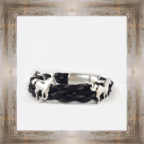 Running Horses Horse Hair Clasp Bracelet $34.99 #8118