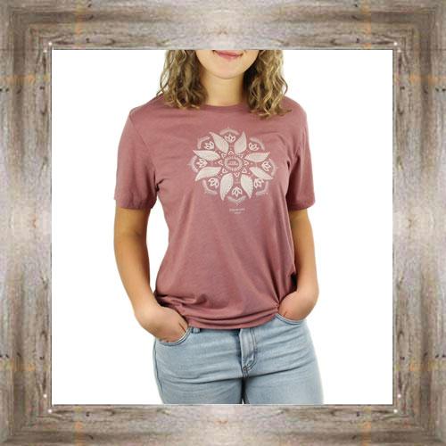 Indian Flow Leaf Ladies Tee $23.99 #8944