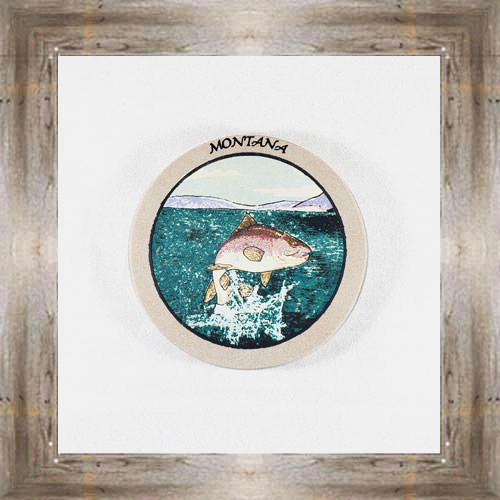 Jumping Trout (B) ND Coaster $5.50 #8654