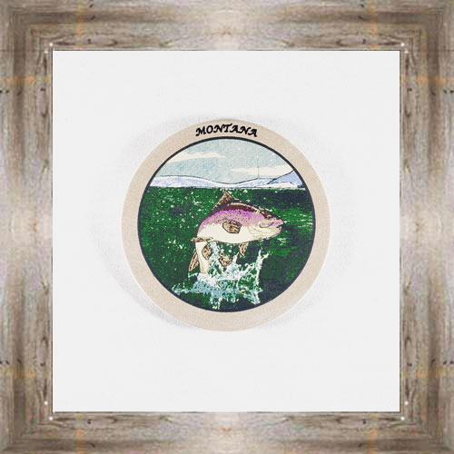 Jumping Trout (G) ND Coaster $5.50 #8654