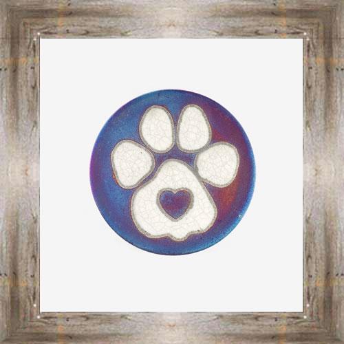 Love Paw Raku Coaster $6.00 #7681
