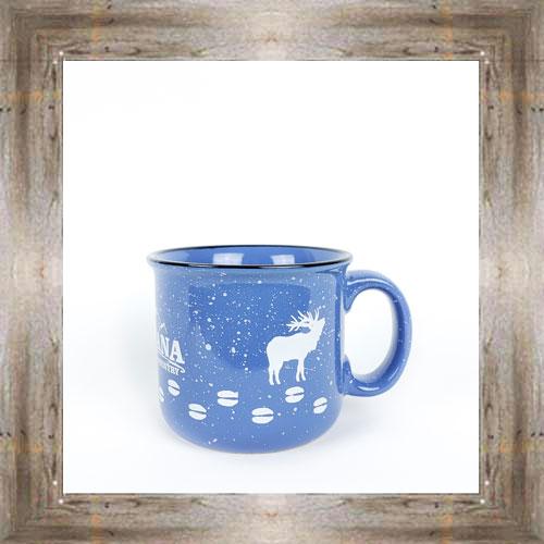 MT Elk Tracks Blue Mug $14.99 #3590
