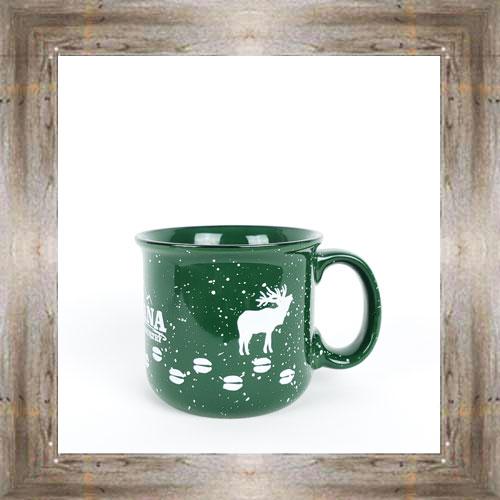 MT Elk Tracks Green Mug $14.99 #3590