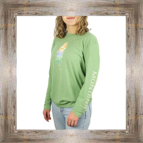 Feather Mountain Long Sleeve Ladies Tee $34.99 #8883