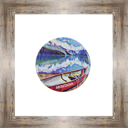 Lake McDonald Button Magnet $5.25 #8725