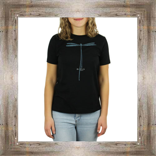 'Live Simply' Dragonfly Ladies Tee $23.99 #8544