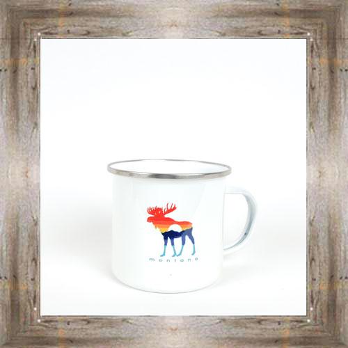 MT Sunset Moose Tin Mug $16.50 #8179