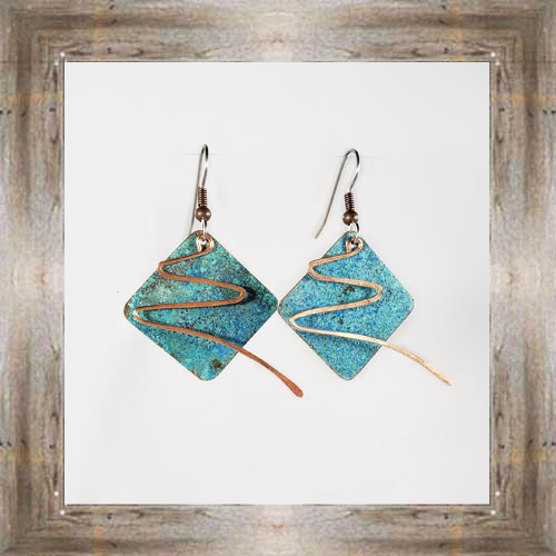 'Moondance' Recycled Copper Earrings (2) $44.99 #7264