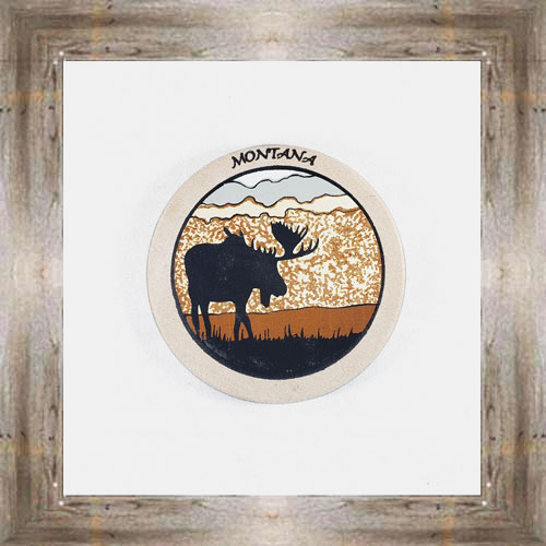 Moose ND Coaster $5.50 #8654