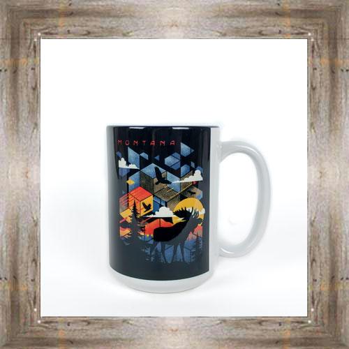 Mosaic Moose Mug $12.95 #8294