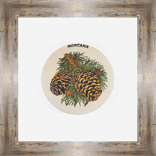 Pinecone ND Coaster $5.50 #8654
