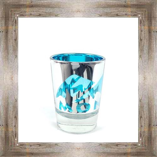 Holographic Blue MT Shot Glass $6.99 #4162
