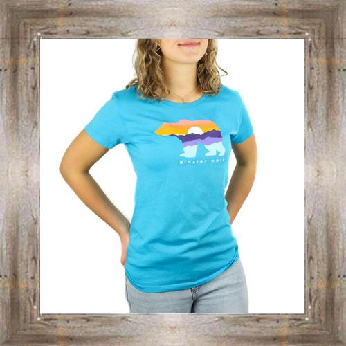 Sunset Mountain Bear Ladies Tee $23.99 #8609