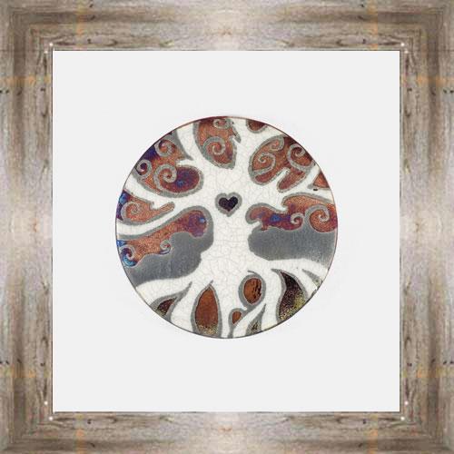 Tree of Life Raku Coaster $6.00 #7681