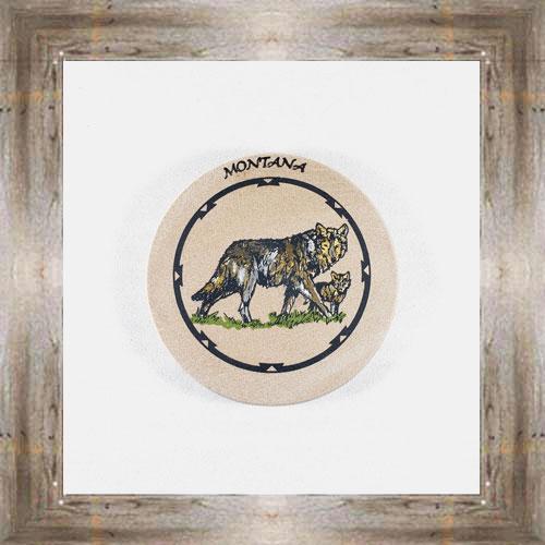 Wolf ND Coaster $5.50 #8654