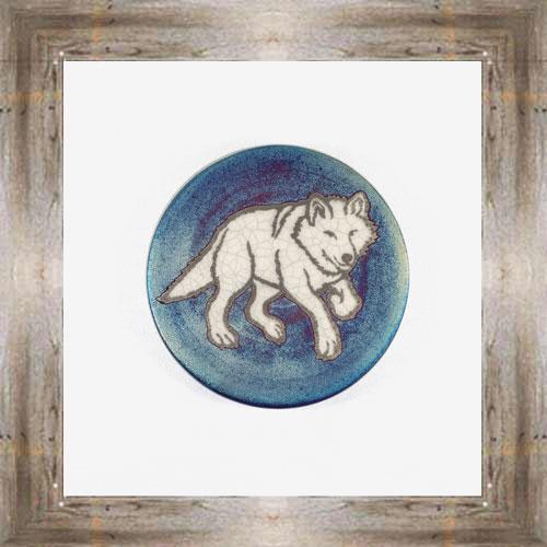 Wolf Raku Coaster $6.00 #7681