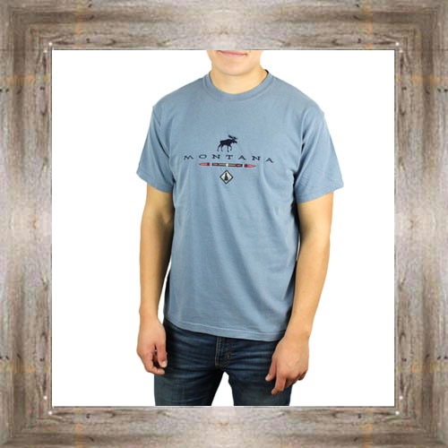 'Native Moose' Embroidered Tee $25.95 #6467