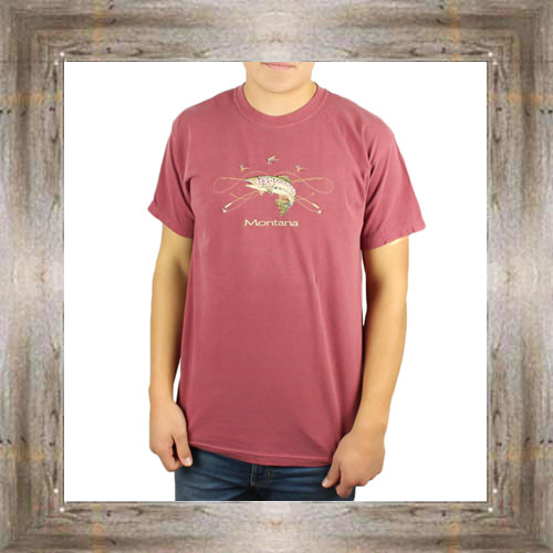 'Trout Embroidered' Tee $25.95 #6545