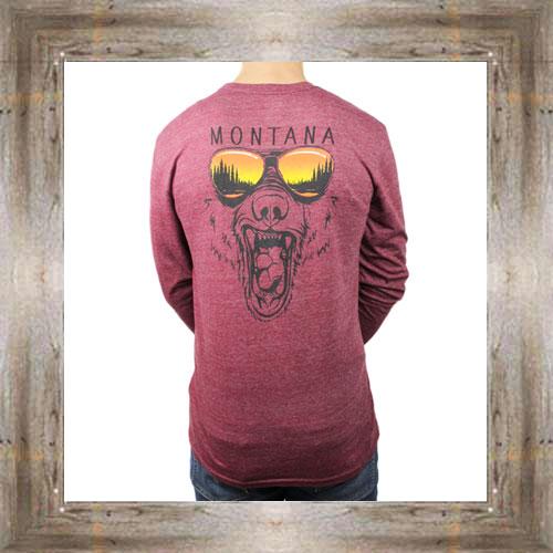 'Snarling Shades Bear' Long Sleeve Tee $34.99 #8924