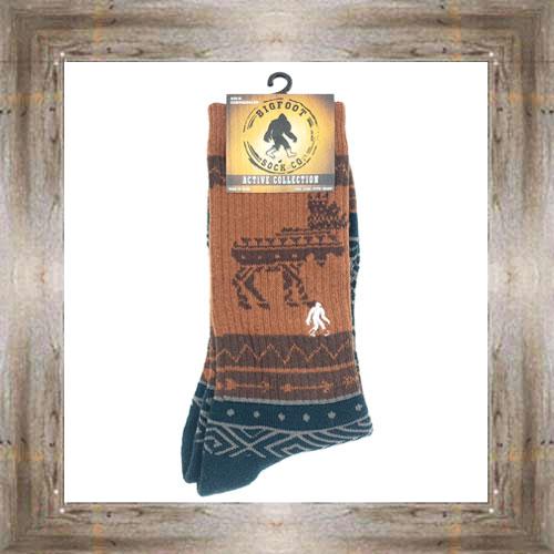 'Bigfoot' Aztec Moose Active Socks $12.99 #8142