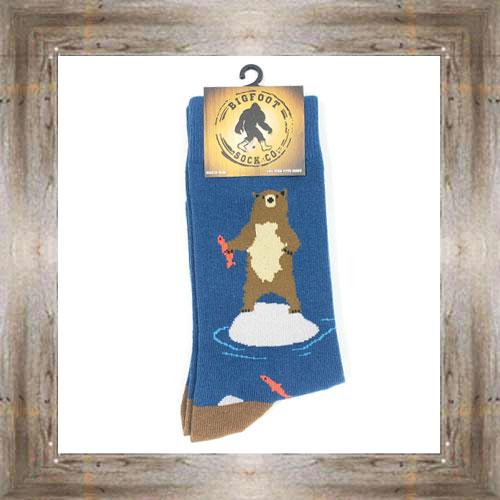 'Bigfoot' Bears Way Of Fishing Socks $11.50 #7299