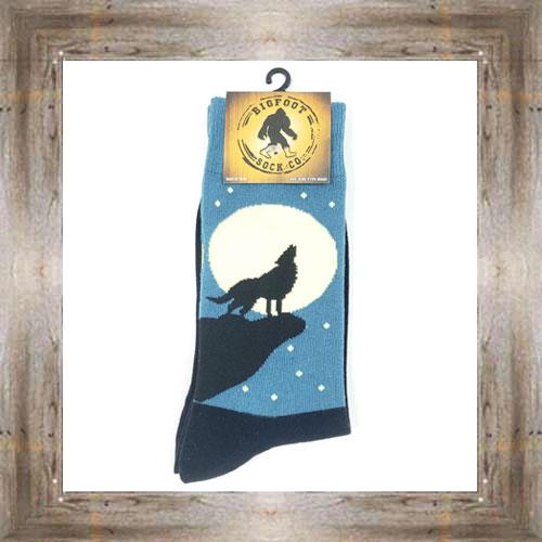 'Bigfoot' Full Moon Howl Socks $11.50 #7299