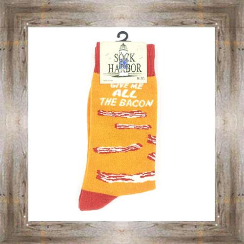 'Bigfoot' Give Me All The Bacon Socks $11.50 #7299