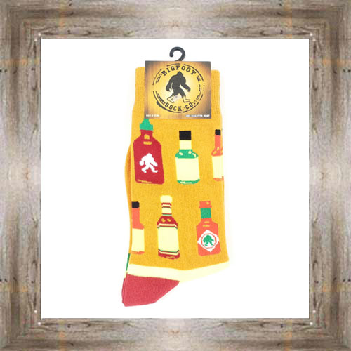 'Bigfoot' Hot Sauce Socks $11.50 #7299