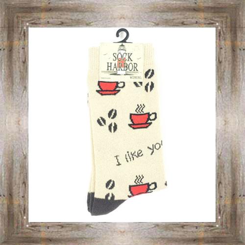 'Bigfoot' I Like You A-latte Ladies Socks $11.50 #7299