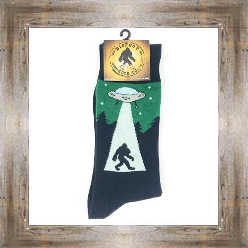 'Bigfoot' UFO Abduction Socks $11.50 #7299