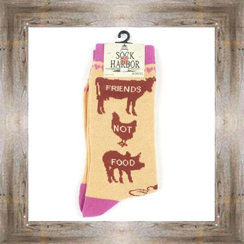 'Bigfoot' Friends Not Food Ladies Socks $11.50 #7299