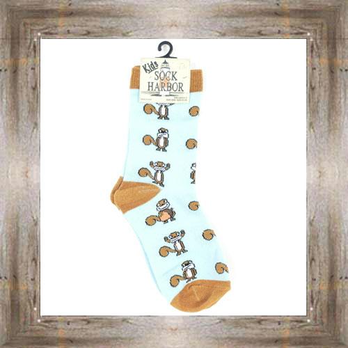 'Bigfoot' Squirrel Kids Socks $6.50 #7300