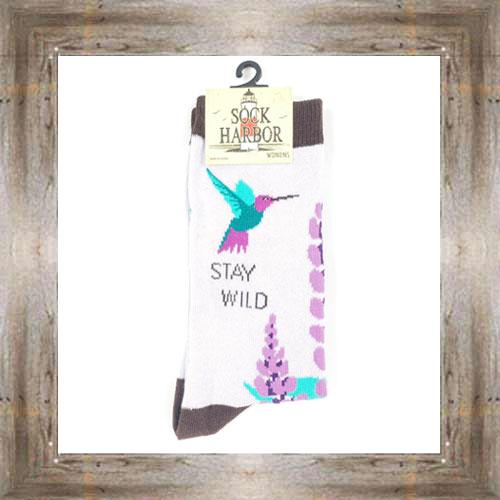 'Bigfoot' Stay Wild Ladies Socks $11.50 #7299