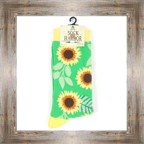 'Bigfoot' Sunflowers Ladies Socks $11.50 #7299