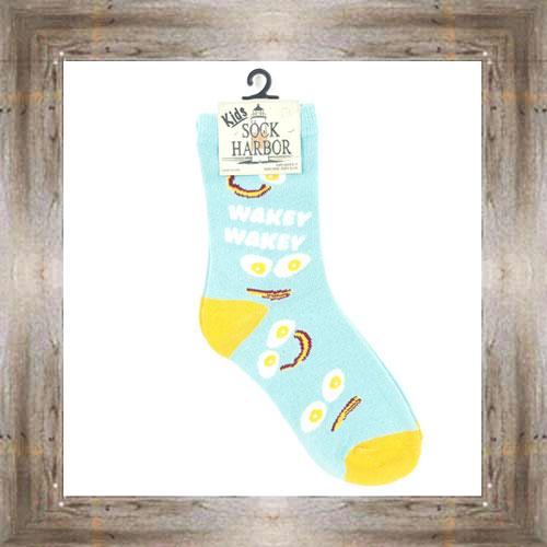 'Bigfoot' Wakey Wakey Eggs & Bakey Kids Socks $6.50 #7300