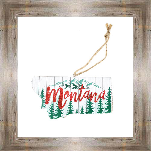 Wooden MT Map Ornament $7.50 #8794
