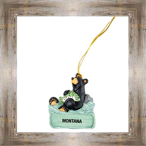 MT Bears Love Trout Ornament $9.50 #7948