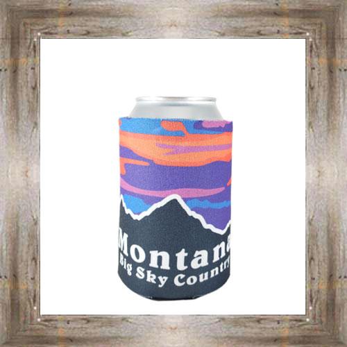 MT Mountain Sunset Koozie $5.75 #7767