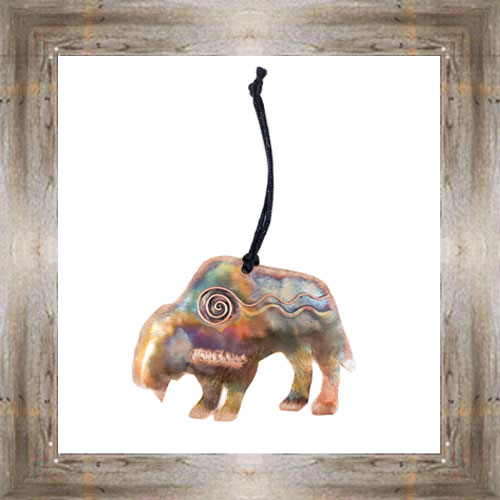Bison Handcrafted Copper Ornament $19.99 #5916